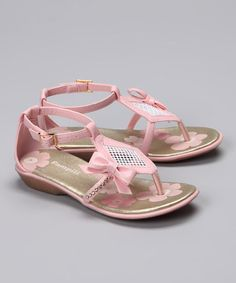 Take a look at this Pink Diamond Mesh Sandal by Pampili on #zulily today!