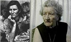 picture 'I never lost hope': Startling interview unearthed with woman behind iconic Great Depression image talking just five years before her death in FLORENCE LEONA THOMPSON Migrant Mother – A Legend of the Strength of American Motherhood. Women In History, History Facts, World History, Old Photos, Vintage Photos, Old Pictures, Iconic Photos, Robert Frank, Baba Yaga