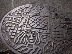 This Seattle manhole cover is more of a peoplecover.