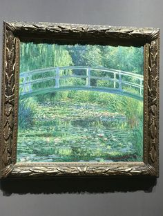 """London, National Gallery 14-2-2016 """"The Water-Lily Pond"""" painted by Claude Monet in 1899.  Definitely one of my favourite paintings!"""