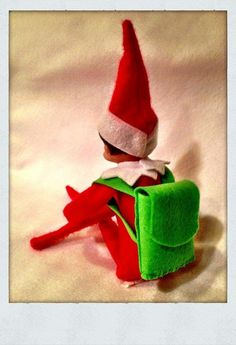 Communicate with Santa through your elf's backpack. My kids love this, especially when Santa send them treats back from the North Pole.