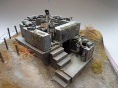 Bunker, Military Action Figures, Ww2 Pictures, Scale Art, Model Tanks, Wargaming Terrain, Military Modelling, Home Defense, Military Diorama