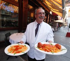Gaspar, a waiter who has worked for 35 years at Angelo of Mulberry Street restaurant in Little Italy on September 2, 2010.