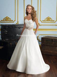 0f39522ea25 Zipper Timeless Sash A-line Wedding Dress Christmas Wedding