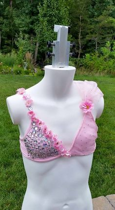 Custom made pink top for dance competition. Looking for something unique, something special but not crazy expensive? Custom costumes by All About Attitude Dancewear. Send an email if you are interested in purchasing this top or having something made.  allaboutattitudedancewear@gmail.com