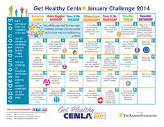 The new year brings a new Get Healthy Challenge Calendar to help you with your health goals! Check out the daily fitness and nutrition challenges for January.