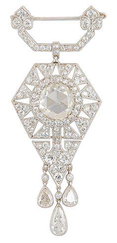 Art Deco CARTIER Diamond Brooch (VIEW2)