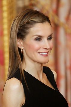 Crown Princess Letizia of Spain attends a meeting with members of the 'Principe de Asturias Foundation' at the Royal Palace, 10.06.2014 in Madrid, Spain.