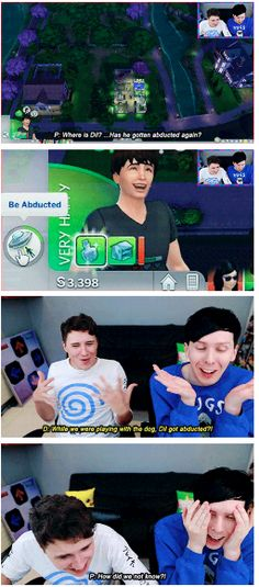 GIF SET: DIL GETS A DOG - Dan and Phil Play: Sims 4 46