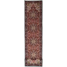 eCarpetGallery Hand-knotted Royal Heriz Red Wool Rug