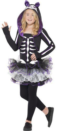 kids skelly cat costume cute skeleton fancy dress for girls - Skeleton Halloween Costume For Kids