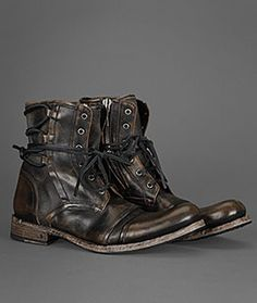 Leather Lace Up Boots For Men | John Varvatos More at www.roguerefined.com #men…