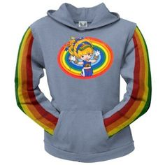 Rainbow Brite - Rainbow Ladies Blue Hoodie