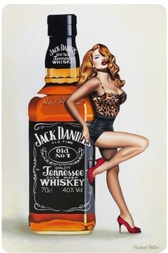 Rachel Foster: Pin Up Jack Daniel's - Whisky Whiskey Girl, Jack Daniels Wallpaper, Pub Vintage, Vintage Pins, Pin Up Posters, Foto Fashion, Girl Wallpaper, Pin Up Art, Pin Up Style