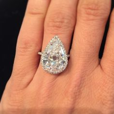 Instagram media marionfasel - The  pear-shape  #diamond in this #ring from the @christiesjewels June 16 sale is 5.90-carats but it has a much bigger spirit  D-Color VS1 #platinum  #jewelrydreams @theadventurine