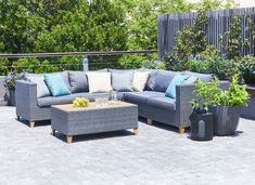 Széles választékot talál a JYSK. Outdoor Sectional, Sectional Sofa, Garden Furniture, Outdoor Furniture, Outdoor Decor, Odense, The Great Outdoors, Wicker, Lounge