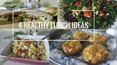 Quick & Easy 4 Healthy Lunch Ideas || Vegetarian Recipes