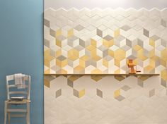 Indoor porcelain stoneware wall/floor tiles TEX YELLOW TEX Collection by MUTINA | design Raw Edges