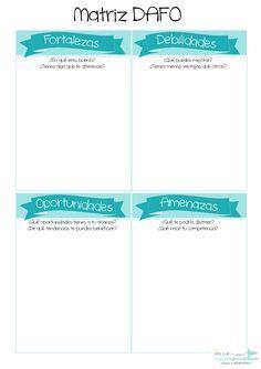 Nos lanzamos de lleno a explicar el primero de los 4 puntos cardinales con los que se conforma un Plan de Empresa, la Matriz DAFO. Qué es, en qué consiste y cómo usarla. Swot Analysis, Plans, Online Marketing, Bar Chart, Innovation, Coaching, How To Plan, Chakras, Reading