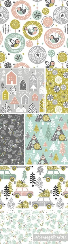 wendy kendall designs  freelance surface pattern designer  merry and bright
