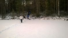 Winteractivity half a day, snowshoeing at the lake Grundrämmen, start by Tyngsjö Vildmark, Dalarna, Sweden.