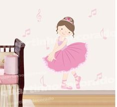 Small Room Bedroom, Nursery Room, Girls Bedroom, Baby Room, Ballet Room, Ballerina Room, Candy Themed Party, Art N Craft, Wall Decor