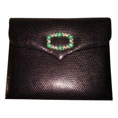 Black Lizard Handbag