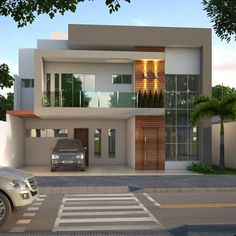 Architecture House Minimalist modern minimalist house design ideas for your 43 > Fieltro. Modern Exterior House Designs, Modern House Facades, Dream House Exterior, Modern House Design, Exterior Design, Modern Buildings, Bungalow House Design, House Front Design, Contemporary House Plans