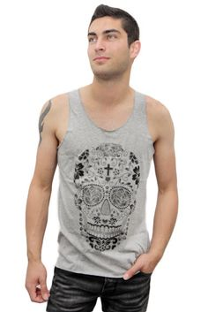 Super cool skull sleevless top!