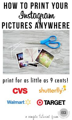How to Print Instagram Pictures CHEAPLY at any store!