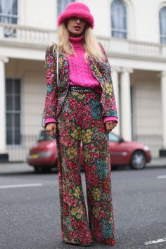 Lucy Rance At London Fashion Week, 2015