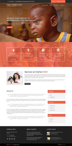 35 best web design charities foundations images on pinterest it is a free charity wordpress theme meant for donation ngos non profits and other charitable organizations as well as business and corporate sites too maxwellsz
