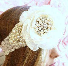Bridal Hair Accessory Vintage Lace Wedding by ArabellasBridal, $60.00
