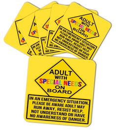 6items - ADULT - SPECIAL NEEDS MAGNETS  #gift #idea #shirt #image #Autism #color #cute #love #forever