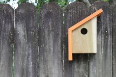 The Nook A Modern Birdhouse by PlyPlayDesigns on Etsy