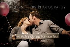 Twin maternity session....  Since I have no hope of John participating in this picture unless I get him drunk, maybe I like this sign in a newborn session :)
