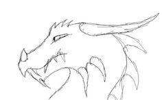 dragon faces drawings