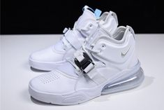 Nike Air Force 270 White/Pure Platinum Men's Size Tennis Sneakers, Casual Sneakers, White Sneakers, Casual Shoes, Shoes Sneakers, Nike Huarache High Top, Nike Air Force, Nike Air Max, Hype Shoes