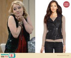 Lennox's leather vest on Melissa and Joey.  Outfit Details: http://wornontv.net/32184/ #MelissaandJoey
