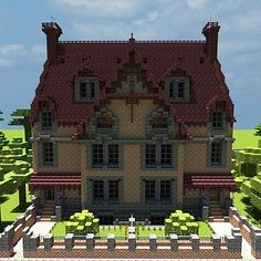 Victorian terraced houses collection (Vitruvian City) Minecraft Project I built this on my kindle Villa Minecraft, Art Minecraft, Minecraft Mansion, Minecraft Structures, Minecraft Plans, Amazing Minecraft, Minecraft Architecture, Minecraft Blueprints, Minecraft Designs