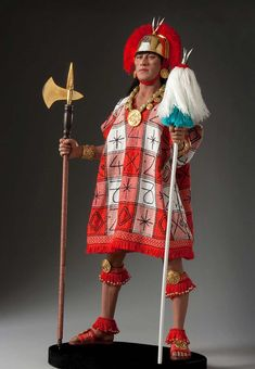 Full length color image of Atahualpa, by George Stuart.
