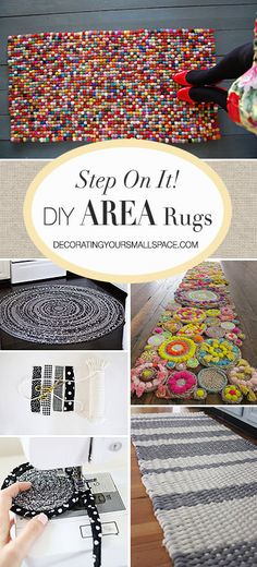 Area rugs define space, pull open floor plans together, add interest, texture and color to a room. They ground a room that seems top heavy, and yes... they still add comfort and warmth! So get to it, DIY'ers! Make one of these DIY area rugs that is unique, beautiful, and practical with these rug projects!