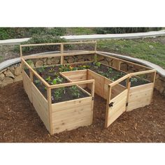 If you love growing your own vegetables but don't have the time or patience to design a garden space and manage pests, this complete garden center is the solution for you.