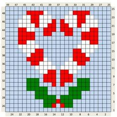 Crochet Christmas Charts and written colour changes Christmas Charts, Christmas Crochet Patterns, Christmas Knitting, Christmas Cross, Christmas Afghan, Christmas Kitchen, Crochet Christmas, Xmas, Crochet Ornaments