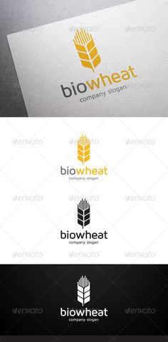 Buy Bio Wheat Logo by flatos on GraphicRiver. Description Bio Wheat Logo is a multipurpose logo. This logo that can be used by backery, agriculture, farming compan. Graphic Design Branding, Logo Branding, Logo Design, Agriculture Logo, Water Logo, City Logo, Farm Logo, Green Logo, Brand It