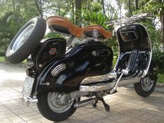 The pride of my Lams.. Vintage 1957 Black Lambretta LD150cc. See My Other Vespa! in Scooters & Mopeds   eBay Motors