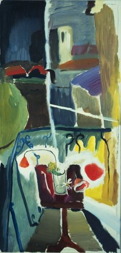 Balcony View, Iping Church - Ivon Hitchens, 1943 (The Courtauld Gallery) Frank Auerbach, Your Paintings, Landscape Paintings, Flower Paintings, Landscapes, Art Uk, Online Art Gallery, Love Art, Art History
