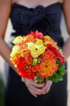 Bright fall bouquet. Floral Design by frenchbuckets.com