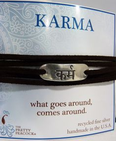 Sanskrit Imitation Leather Wrap Bracelets Karma