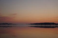 Beautiful May sunrise on Lake Sinissippi.